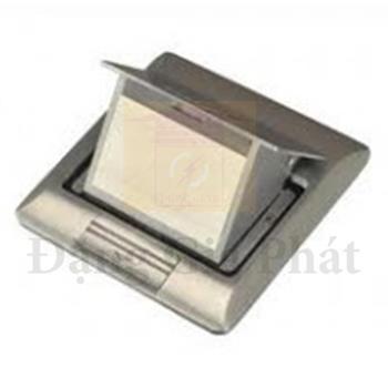 Ổ cắm âm sàn cho S-Flexi có đế âm, màu nhũ bạc E224F_ABE