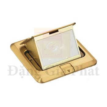 Ổ cắm âm sàn cho S-Flexi có đế âm, màu nhũ vàng E224F_BAS