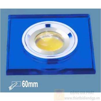Đèn Panel vuông âm trần led 5W, Ø90, khoét lỗ Ø60mm, ánh sáng trắng & vàng E 3755-5W