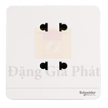 Bộ ổ cắm đôi 2 chấu 10A màu trắng E83426U2_WE_G19