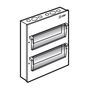 Tủ điện vỏ kim loại gắn nổi chứa 28 Module EM28PS