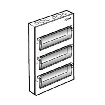 Tủ điện vỏ kim loại gắn nổi chứa 36 Module EM36PS