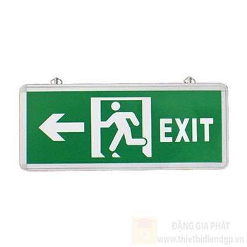 Đèn thoát hiểm có mũi tên hướng trái 2 mặt L355*W25*H145 EXIT TRÁI- 2 mặt