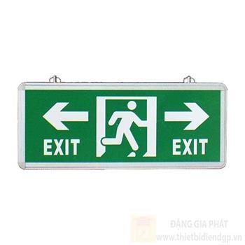 Đèn thoát hiểm có mũi tên hướng trái và phải 2 mặt L355*W25*H145 EXIT TRÁI PHẢI- 2 mặt