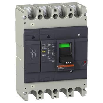 Thiết bị đóng cắt EZC400 4P 320A type N,lcu=36KA/415V EZC400N4320N