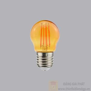 Đèn led Filament màu cam Ø45*78mm 2.5W FLM-3OR