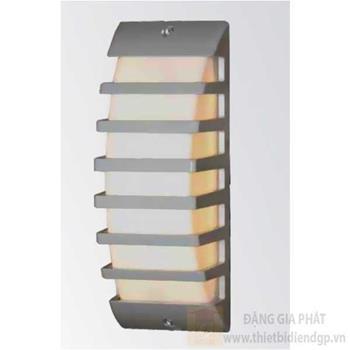 Đèn vách cổng Sano Led 10W Ø80*L75*H230, vỏ bạc GC 6344