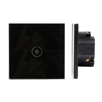 Công tắc đơn 1 chiều vuông màu đen HD86-01CMB(Y)