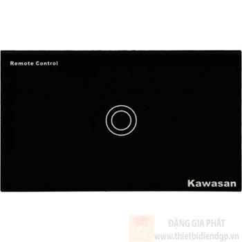 Công tắc đơn Kawasan cảm ứng chạm - điều khiển remote kính cường lực màu đen KW-CT1B