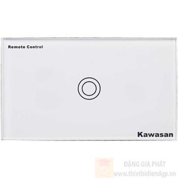 Công tắc đơn Kawasan cảm ứng chạm - điều khiển remote kính cường lực màu trắng KW-CT1W