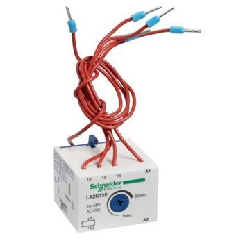 TeSys K -Time delay auxiliary contact block - 1 C/O - 24...48 V - 1…30s LA2KT2E