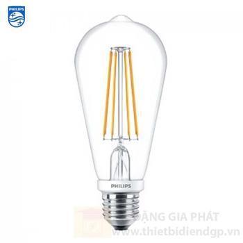 Bóng Led Filament Philips Classic ST64 6W Led Classic 6-60W E27 830 CL NDAPR