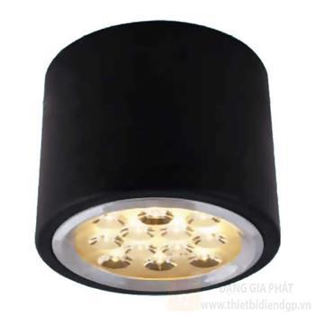 Đèn downlight ốp nổi led Ø130*H100-12W, vỏ màu đen LN-14