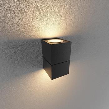 Đèn Led gắn tường ngoài trời (LWA Series) 2*12W Vỏ Trắng và Vỏ Đen LWA0150B-BK