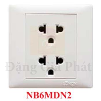 Ổ cắm 3 chấu đôi 16A/250V NB6 MDN2