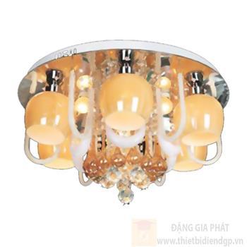 Đèn ốp trần Led tròn Ø500*H220, E27*8 lamp, LED color changer, remote & MP3 NC 6205A