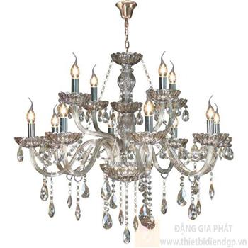 Đèn chùm nến Ø800*H8600+600, E14*12 lamp, 23 large crystals K9, 52 small crystals K9 NC 2040/12