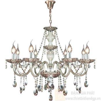 Đèn chùm nến Ø800*H700+600, E14*8 lamp, 23 large crystals K9, 40 small crystals K9 NC 2040/8