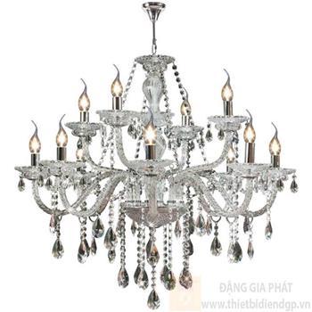 Đèn chùm nến Ø800*H700+600, E14*12 lamp, 23 large crystals K9, 52 small crystals K9 NC 2045/12