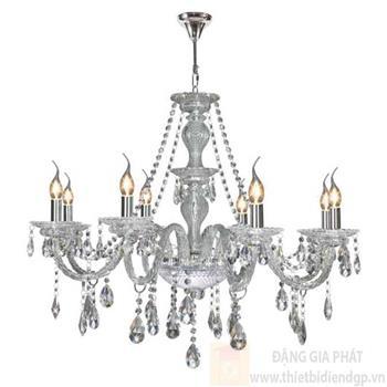 Đèn chùm nến Ø800*H700+600, E14*8 lamp, 23 large crystals K9, 36 small crystals K9 NC 2045/8 NC 2045/8