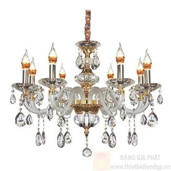 Đèn chùm nến Ø750*H600+500, E14*8 lamp, 20 large crystals K9, 32 small crystals K9 NC 5580/8