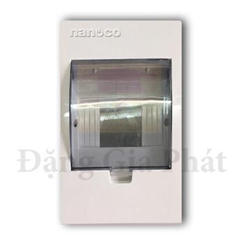Tủ điện mặt nhựa đế kim loại chứa 2-4 modules NDP104