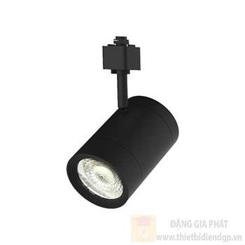 Đèn Chiếu điểm thanh ray màu đen 14W-220V, Ø85 x H134mm, 1200lm NTRxxxB