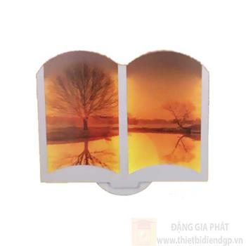 Đèn Vách 3D Led 24W Kiểu Cổ Điển L235*H210 NV 529