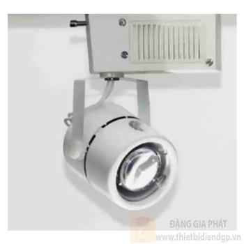 Đèn chiếu điểm thanh ray led COB 5W, Ø65*L90*H140-6000K-3000K, vỏ trắng PR 120