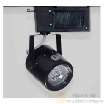 Đèn chiếu điểm thanh ray led COB 3W, Ø65*L90*H140-6000K-3000K, vỏ đen PR 122A