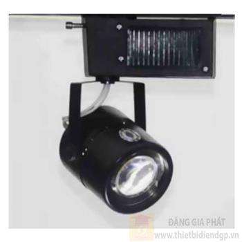 Đèn chiếu điểm thanh ray led COB 5W, Ø65*L90*H140-6000K-3000K, vỏ đen PR 122