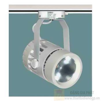 Đèn chiếu điểm thanh ray led COB 30W, Ø105*L165*H215-6000K-3000K, vỏ trắng PR 6644