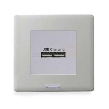 Ổ cắm đôi USB - màu trắng PX5837SLT