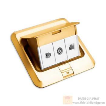 Ổ âm sàn hạt tivi, điện thoại, mạng R6897