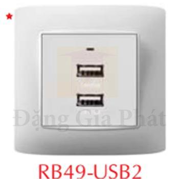 Ổ cắm USB đôi RB49-USB2