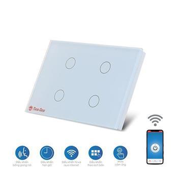 Bộ 4 công tắc cảm ứng Rạng Đông Wifi RD SW.04.WF