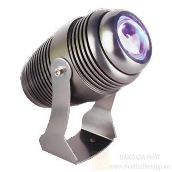 Đèn chiếu mặt dựng Ø90*W140*H180-10W, rọi xa 30m, ánh sáng xanh dương RN 07 XANH DƯƠNG