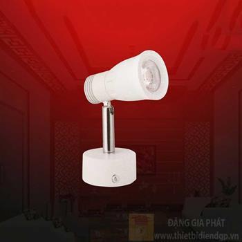 Đèn led chiếu điểm Ø50*H140-7W, vỏ trắng, ánh sáng trắng, vàng RN 7007T