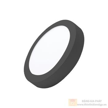 Led ốp trần nổi tròn 18W đổi 3 màu viền đen SRPLB-18/3C