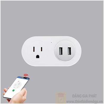 Ổ cắm thông minh MPE Smart wifi 16A+2USB2.4A SWP16-5