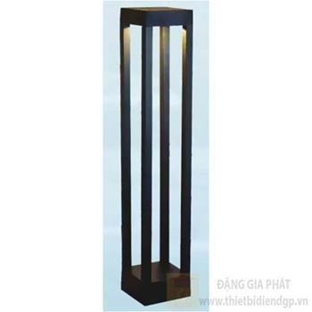 Đèn trụ cổng vuông led 12W, Ø110*H800, vỏ đen, ánh sáng vàng TC 1281