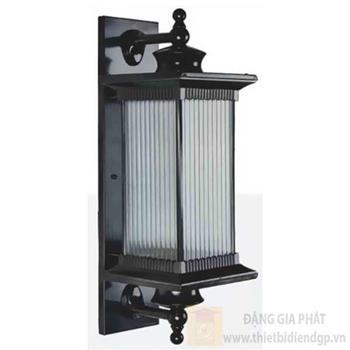 Đèn trụ cổng vuông Sano E27*1, Ø210*H580, vỏ đen VC 1285