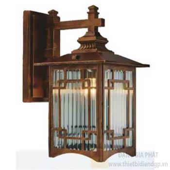Đèn vách cổng vuông Sano E27*1, Ø230*H330, vỏ đồng VC 1286A