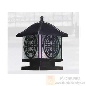 Đèn trụ cổng đúc gang Sano E27*1, Ø200*H250-Đế Ø160 TC 9614