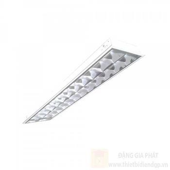 Máng đèn phản quang âm trần chóa Parabol thanh ngang nhôm sọc TDA218