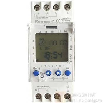 Công tắc hẹn giờ thanh ray - lắp từ điện dạng kỹ thuật số TS622