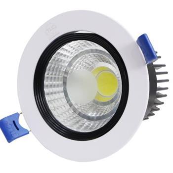 Đèn led âm trần đơn COB 7W mặt tròn trắng TLC-ACO-TT-7W
