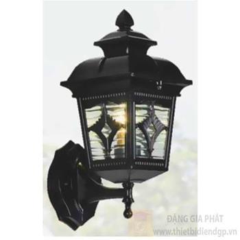 Đèn vách cổng vuông Sano E27*1, Ø140*H330, vỏ đen VC 1287