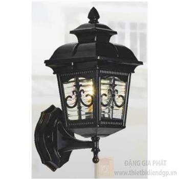 Đèn vách cổng vuông Sano E27*1, Ø140*H330, vỏ đen VC 1288
