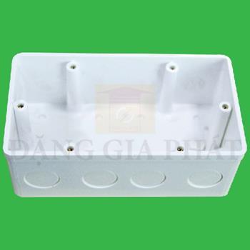 Hộp đế âm nhựa vuông kiểu anh A157V2